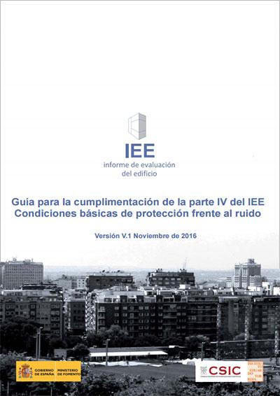 Guía para la cumplimentación de la parte IV del IEE. Protección frente al ruido